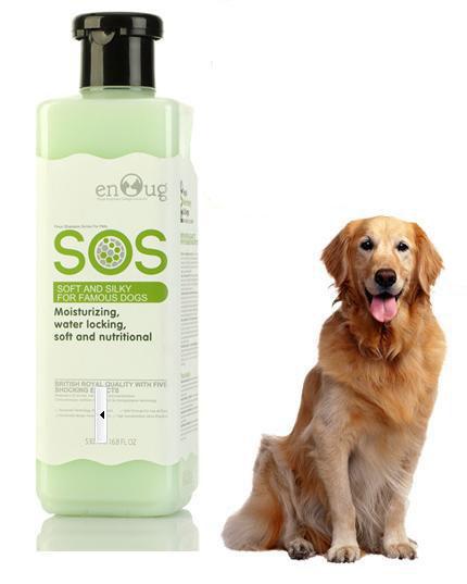 SOS - Dầu gội giúp lông mềm mại 530ml (xanh lá)