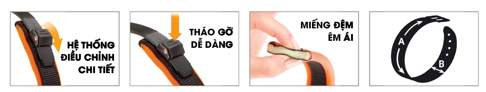 Ferplast Ergofluo - Vòng cổ 1.5cm (cam)